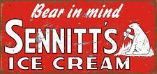 NEW Sennitts Ice Cream metal tin sign