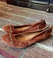 J CREW Italy 49216 LEATHER MOCCASIN Ballet Flats STUDDED WOMENS SHOES SIZE 6 ❤️