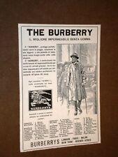 Pubblicità d'epoca dei primi del '900 Impermeabile The Burberry