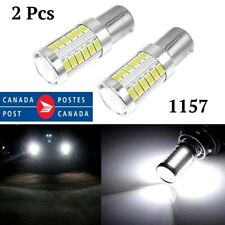 2x 1157 BAY15D 33 SMD 5630 LED White Light Car Tail Stop Brake Lamp Bulb 6W 12V