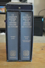 THE COMPACT EDITION OF THE OXFORD ENGLISH DICTIONARY BOXED SET W/ MAGNIFIER