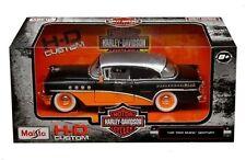 MAISTO 1:24 W/B HARLEY-DAVIDSON CUSTOM 1955 BUICK CENTURY DIECAST CAR 32197