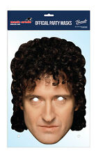 Brian May UFFICIALE Regina 2D CARD partito faccia Mask Fancy Dress Up Rock Band