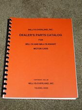 Willys, Willys Knight Parts Catalog 1925-1931 Listings,Part #s,1500 Parts Listed
