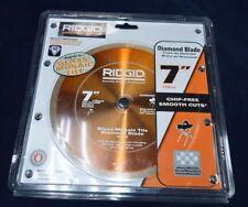 RIDGID Glass Tile Diamond Blade 7 Circular Wet Saw Smooth Chip-Free Cuts Orange