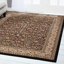 "Free S&H Black Persian Area Rug 6 X 8 Oriental Carpet 2 - Actual 5' 2"" X 7' 6"""