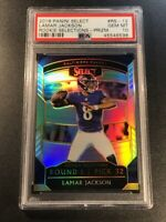 LAMAR JACKSON 2018 PANINI SELECT ROOKIE SELECTIONS SILVER PRIZM REFRACTOR PSA 10