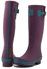 Evercreatures MUJER Botas Wellington Damas Niñas Alto Wellies Vegano Berenjena