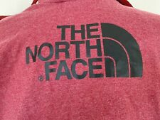 The North Face Men's M Heather Red Spellout Long Sleeve Hooded Sweatshirt Hoodie