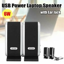 Hot Usb Power 3.5mm Earphone Jack Speakers For Computer Laptop Pc Desktop Black