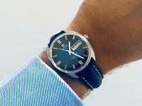 OMEGA Mens Seamaster Cosmic Automatic Gents Day Date Blue dial vintage watch Box