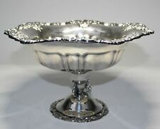 LARGE WALLACE BAROQUE SILVERPLATE FOOTED CENTERPIECE BOWL