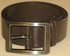 New Mens Brown Leather Belt Size 32  -  81cm     (B69)
