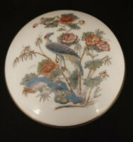 Trinket box Wedgwood Asian Peacock and Flowers Fine Bone China with Lid 3""