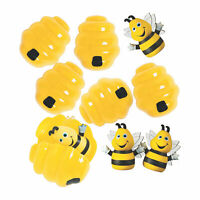 Busy Bee Finger Puppet-Filled Easter Eggs - 12 Pc. - Party Supplies - 12 Pieces