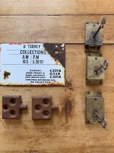 GPO Royal Mail Postbox Lock Enamel Plate Items