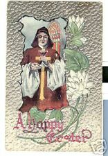 Old Postcard 1914 A Happy Easter  Cleric with Chalice