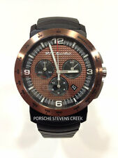 Porsche Men's 911 Turbo Chronograph Watch Black Brown Sapphire Glass Analog