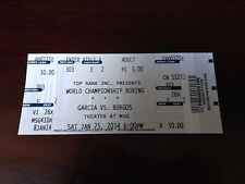 BOXING TICKET STUB MIKEY GARCIA VS JUAN BURGOS JENNINGS VS SZPILKA  JAN 25,2014