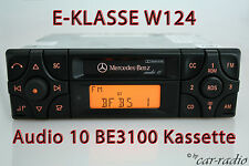 Original Mercedes Audio 10 BE3100 Kassette Autoradio E-Klasse W124 Becker RDS