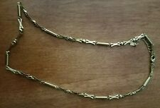 "Nikken 23k Gold Plated Magnetic Therapy Necklace 18-20"" Diamond Cut Chain"