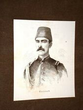 Incisione del 1876Il Sultano della Turchia Çerkes Hasan Bey