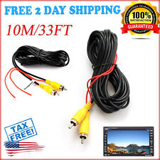 RCA Video Car Cable 33 FT Auto Rear View Backup Camera & Detection Wire Extensio