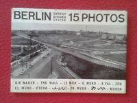 ESTUCHE DE POSTALES POST CARDS BERLIN GETEILT DIVIDED DIVISE 15 PHOTOS MURO WALL