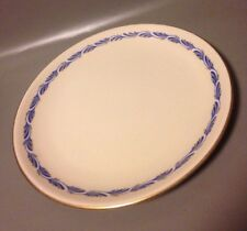 Extra large Fransiscan China Arcadia blue pizza plate 13 inch gold rim platter