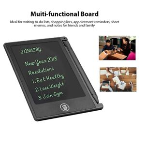 """4.5i"""" LCD Writing Panel Tablet Board Notepad Draw Graphics Memo Pad Kids Office"""
