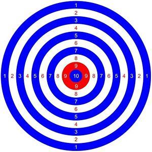 50 x TARGETS Airgun Rifle Pistol 22 177 Target Shooting Air Gun 14cm Airsoft BB