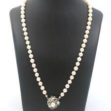 Akoya Zucht Perlen Kette 585 Gold Smaragde 14 Kt Collier Wert 580 ,-