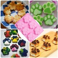 Silicone Mold Pet Paw Print Bone Treat Dog Candy Chocolate Soap Mold Home DIY