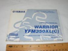 Yamaha Motorcycle Owners Manual Unused Warrior WFM350LX (c)