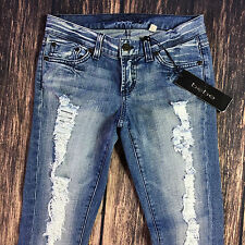 NEW BEBE Carmen Tattered Skinny Jeans Destroyed Size 26 Measures 30x31