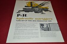 P&H Harnischfeger Hydraulic Outriggers Dealer's Brochure
