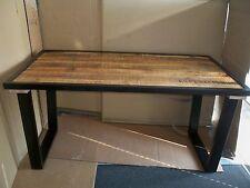Massiver Mangoholztisch mit Metallumrandung+Füßen 160 x 90 cm  Gutmann Factory