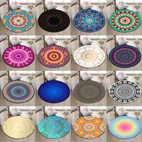 Hippie Mandala Round Soft Yoga Mat Rugs Floor Bathmat Retro Rug Non-slip Carpet