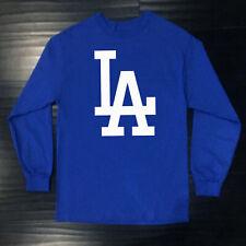 Los Angeles Dodgers Long T-Shirt Graphic Men Adult Logo Jersey LAD LA
