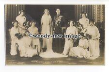 r1052 - Duke & Duchess of York Wedding Day with Bridesmaids - postcard