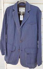 NWT Orvis Pigment Dyed Linen Summer Casual Blazer Sport Coat 40 Navy Blue $250