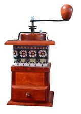 Solid Wooden Coffee Grinder Mill Side Hand Beans Cranked Grandmother Gift type 2