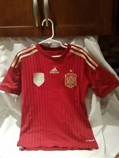Adidas Spain soccer Jersey (circa 2014) boys Small