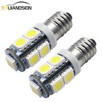 2X 5050 9SMD LED E10 Lamp Screw Base 12 Volt White Car Interior Light Flashlight