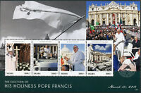 Tanzania 2013 MNH Election His Holiness Pope Francis 4v M/S Popes Stamps