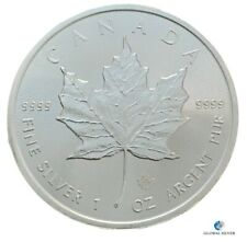 2019 Maple Leaf Canada 1 oz silver new bullion coin in a capsule uncirculated