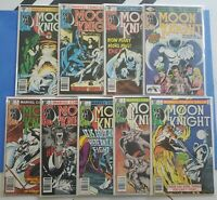 Marvel MOON KNIGHT 1980 Set #1 - #9 BRONZE AGE Key Books! Lot Run!