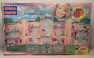 1993 Rare Mega Bloks Fantasy Dream Home Dollhouse Mansion Sealed Parts