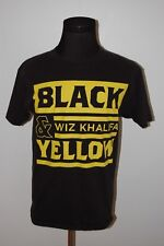 Vintage 2011 Wiz Khalifa Black and Yellow Rolling Papers Concert Band T Shirt