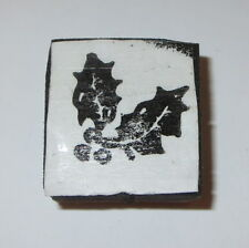 Holly Leaves Rubber Stamp Leaf Berries Berry Holidays Foam Mounted